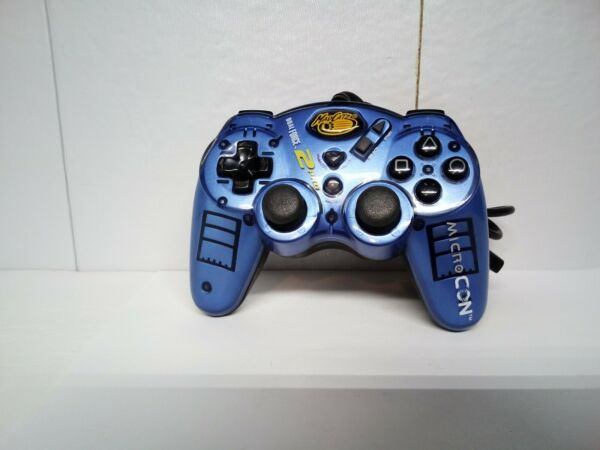Dual Force 2 Pro Microcon Blue Controller Playstation 2 PS2 Console Game System $12.99