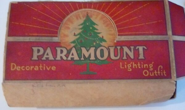 Lot 2 VINTAGE Boxes of PARAMOUNT Decorative Lighting Outfit Cords amp; Bulbs Work