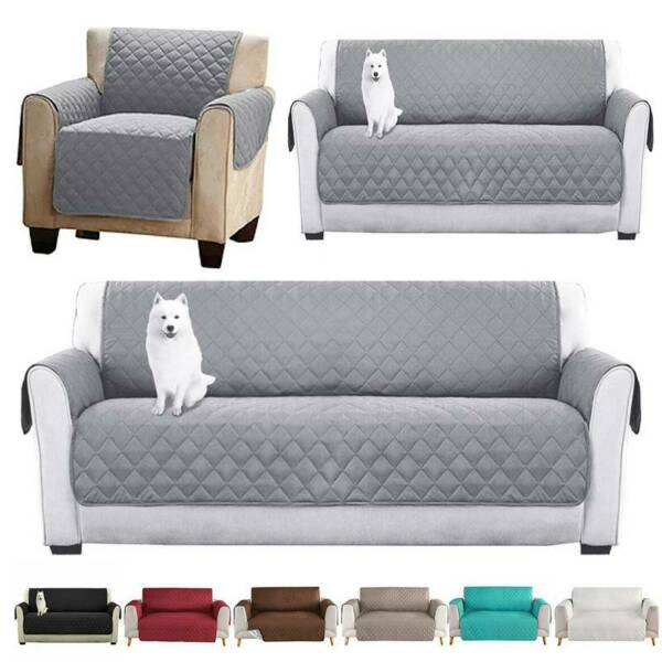 Sofa Covers Quilted Slip Cover Pets Couch Protector For 1 2 3 Seater Waterproof $33.72