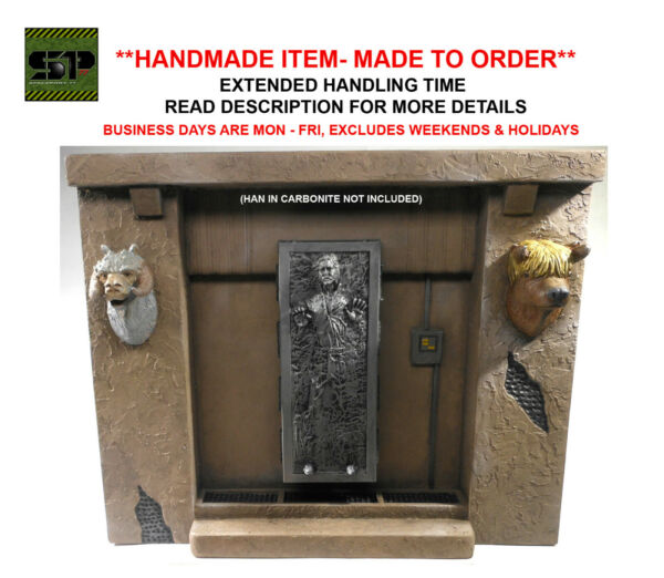 Custom 1:12 scale Jabba#x27;s Palace Diorama for 6quot; Black Series Han Solo Carbonite $100.00