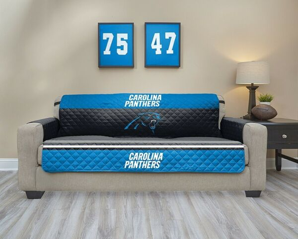NFL Carolina Panthers Sofa Waterproof Furniture Protectors With Pockets $49.99