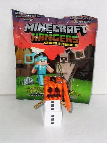 MINECRAFT HANGERS SERIES 3 SINGLE SNOW GOLEM LICENSED NO PACKAGING LOOSE FIGURE