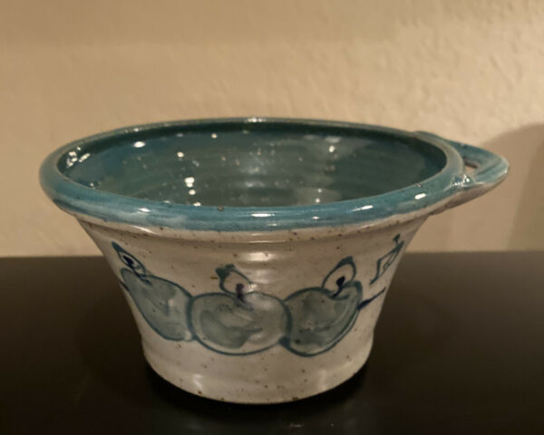 "Great Bay Pottery Fruit Bowl Handmade Rye NH 6"" $12.00"