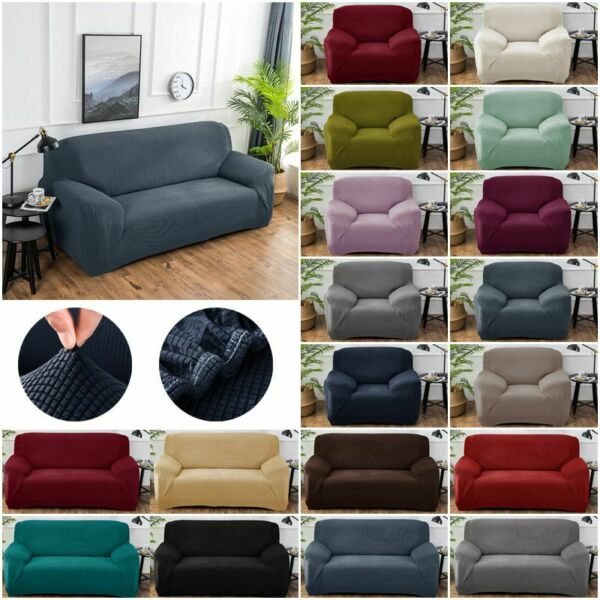Printed Slipcover Sofa Covers Spandex Stretch Couch Cover Furniture Protectors $6.89