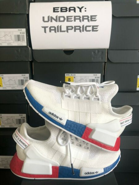100% Authentic Adidas NMD R1 V2 White Lush Red 2020 FX4148 BRAND NEW