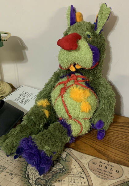 """Manhattan Toy Galoompagalots Mrax Monster Large Red Nose 24"""" Plush Stuffed Toy $99.99"""
