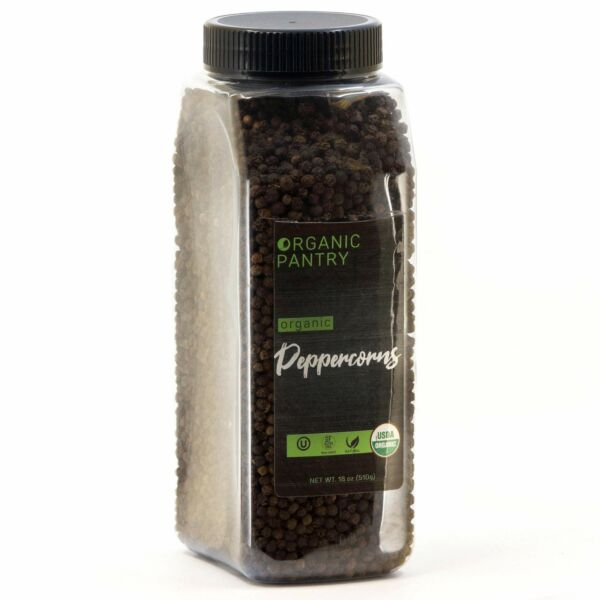 THE ORGANIC PANTRY Organic Peppercorns USDA Organic Tellicherry 5369