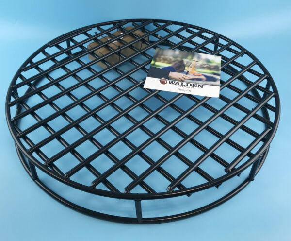 Walden Fire Pit Grate Round Premium Heavy Duty Steel Grate for Outdoor Firepits