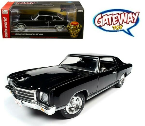 AutoWorld 1:18 American Muscle 1970 Chevrolet Monte Carlo SS 454 Black AMM1237