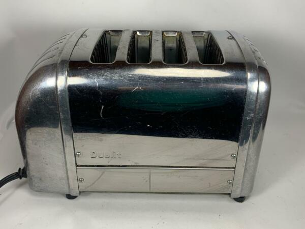 USED Dualit 4 Slice Toaster Stainless Steel Chrome Works Model 4 BR 84