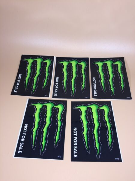 MONSTER ENERGY DRINK DECAL STICKER 4 x 3 INCHES LOT OF 5 $4.99
