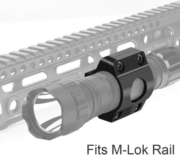 Tactical Offset Light Mount 1quot; Ring Mount for Flashlight Scope on MLOK Rail