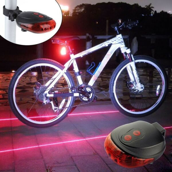 Waterproof LED Laser Safety Warning Tail Bicycle Accessories Light $3.99