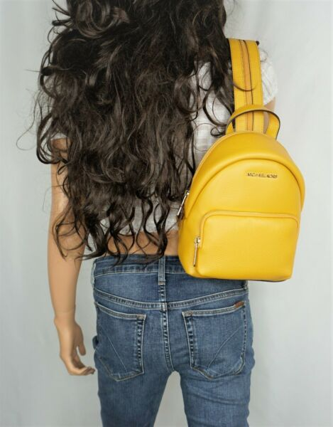 MICHAEL KORS ERIN SMALL MINI CONVERTIBLE LEATHER BACKPACK LEATHER MARIGOLD $89.00