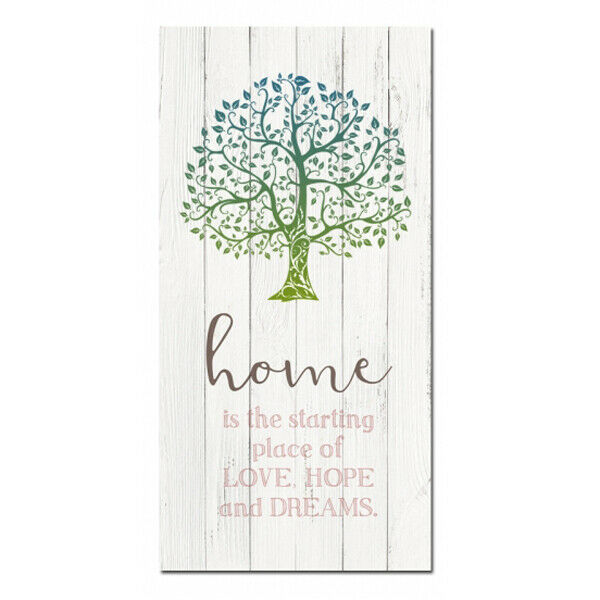 French Country Canvas Print Home Love Hope Dreams 40x80cm