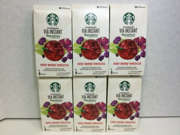Starbucks Via Instant Refreshers Very Berry Hibiscus Instant Beverage 36 Packets $22.98
