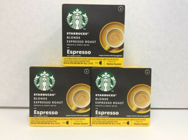Starbucks Dolce Gusto Espresso Capsules Coffee Blonde Roast 12 Box 3 Box 6 2020