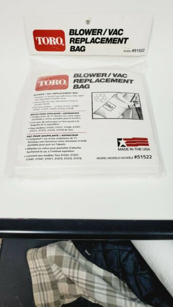 Toro Blower Vac Replacement Bag. Model#51522. Brand New Sealed.