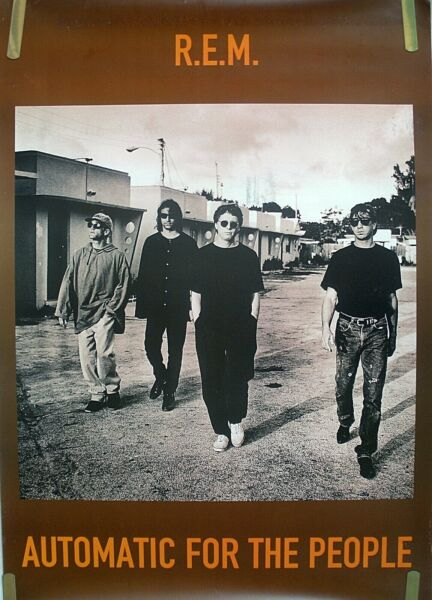 R.E.M. AUTOMATIC FOR THE PEOPLE 1992 VINTAGE MUSIC RECORD STORE PROMO POSTER $29.99