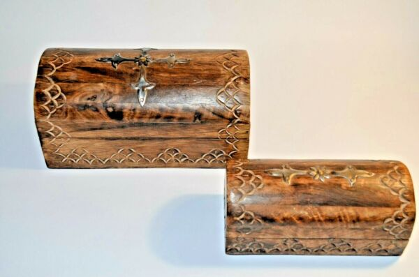 Antique Wooden Boxes For Jewelry 2 pcs