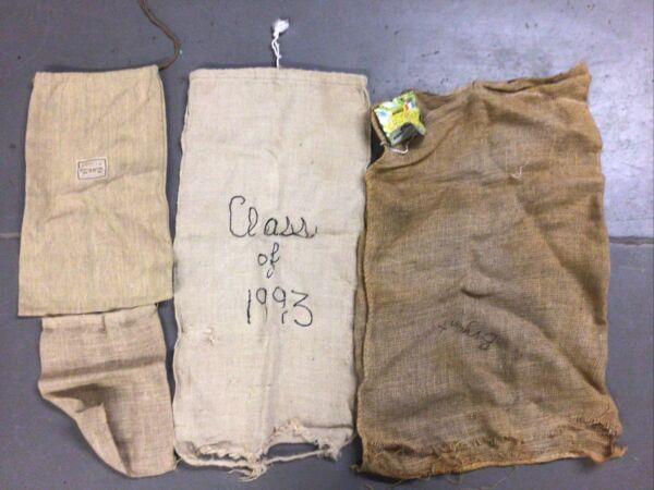 Burlap Bag Sack Lot Of 4