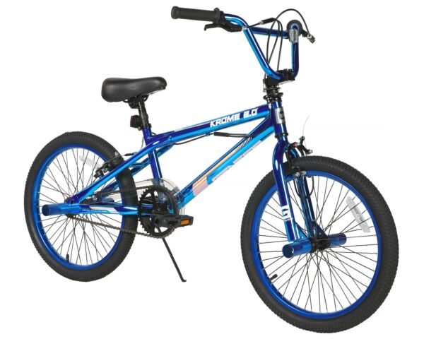 20quot; Boys BMX Bike Steel Frame 2.0 Blue Krome Single Speed Front Caliper Brake $125.35