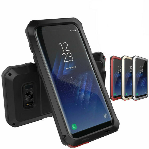 Shockproof Aluminum Heavy Duty Metal Cover Case For Samsung Galaxy S9 S9 Plus