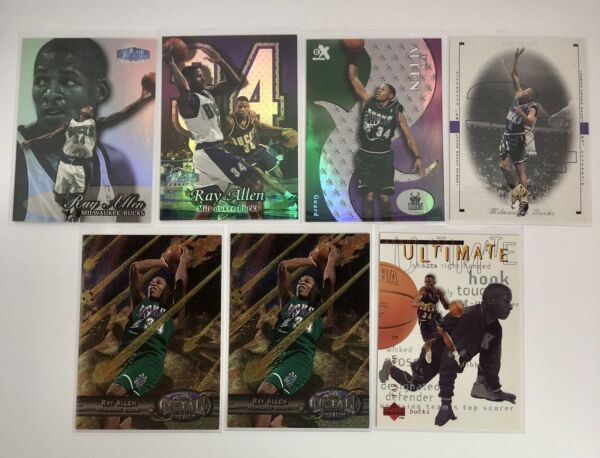 Ray Allen 2nd amp; 3rd Year Lot 7 Metal Universe Flair Showcase SP Authentic $7.00