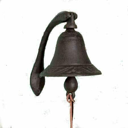 CTW Home Collection Cast Iron Logan Dinner Bell With Bracket Dinner Bell $99.99