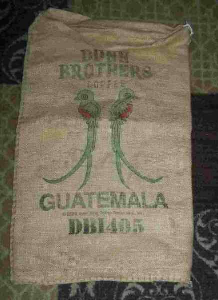 Large GUATEMALA Coffee Bean Burlap Bag Sack Wall Art 30quot; X 17quot;