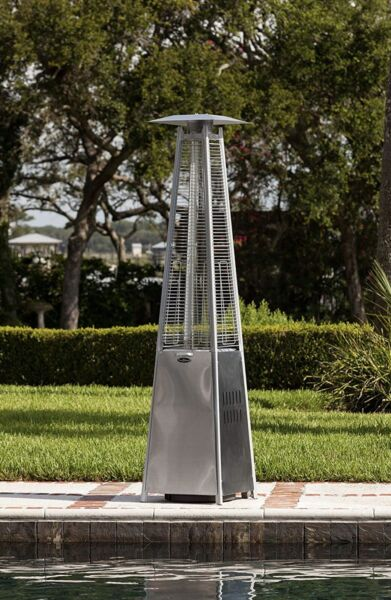 Patio Propane Outdoor Heater 40000 Btu Fire Sense Coronado Pyramid Steel