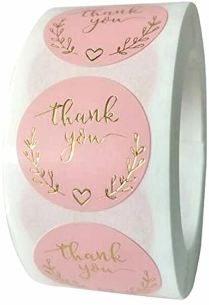 30 THANK YOU FOR YOUR PURCHASE ENVELOPE SEALS LABELS STICKERS 1quot; ROUND