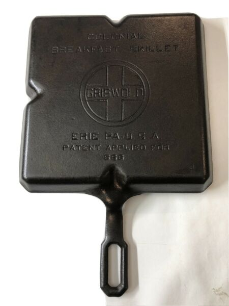 Vintage Cast Iron Griswold Colonial Breakfast Skillet Erie Pa 666