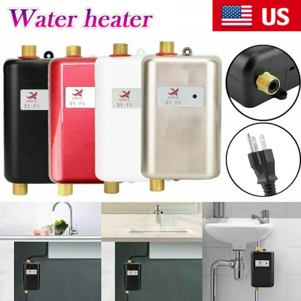 3800W Instant Electric Tankless Hot Water Heater Shower Kitchen Bathroom 110V $69.99