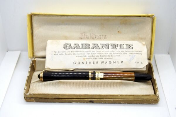 Vintage Pelikan Fountain Pen 400 14C Gold Nib with Box and Papers
