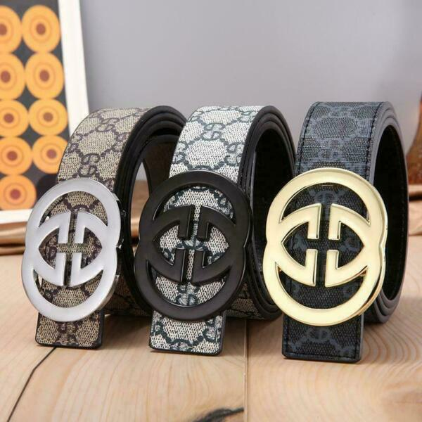 NEW Fashion Buckle Men#x27;s Classic Leather Vintage Belt multicolor