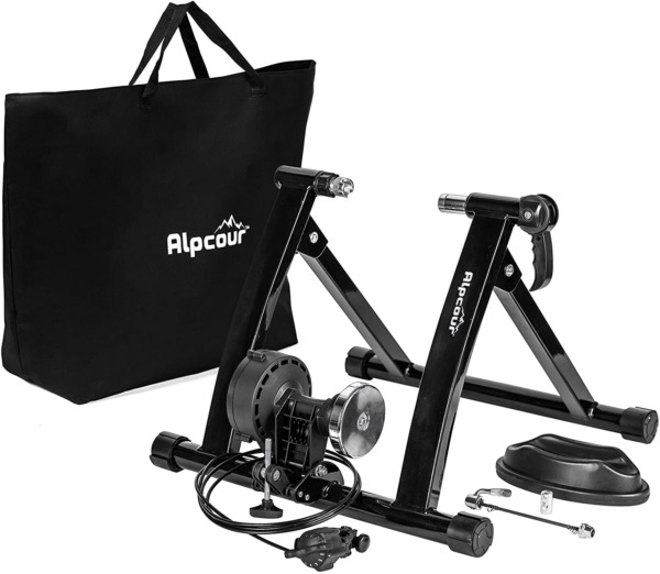 Alpcour Bike Trainer Stand – Portable Stainless Steel Indoor Trainer W Magnet $256.80