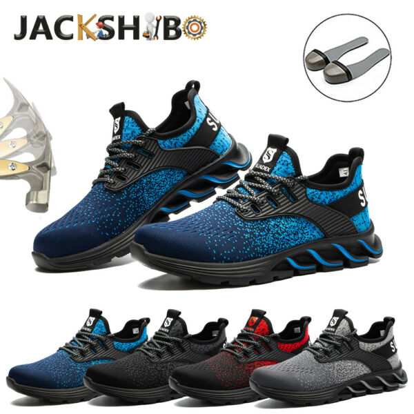 US Indestructible Safety Work Shoes Steel Toe Boots Lightweight Sneakers Mens $40.99