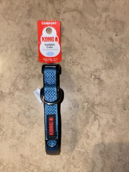 KONG Dog Collar Small 10 14 Inches Comfort Blue NEW $15.00