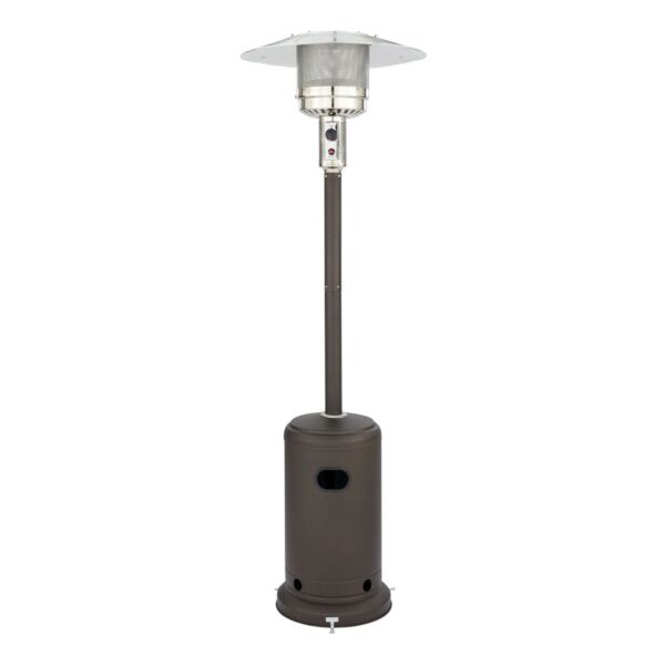 NEW Mainstays Mocha 48000 BTU Outdoor Propane Patio Heater Propane LP Gas Tall