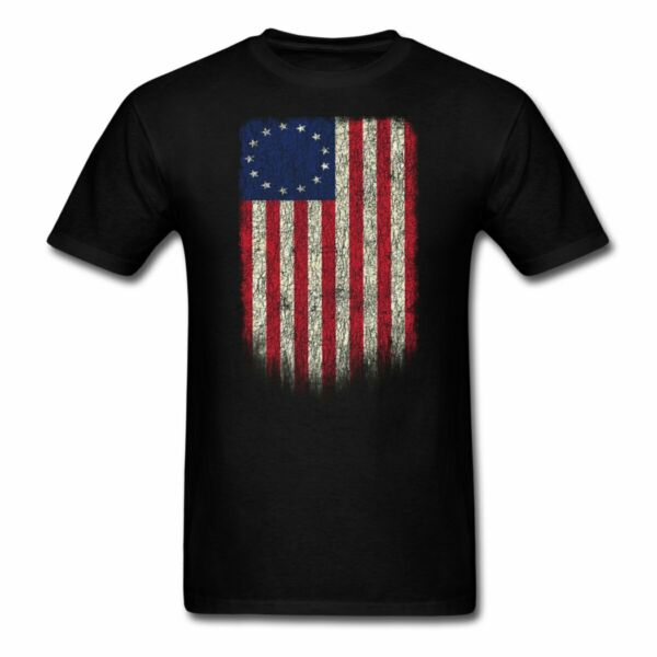 Betsy Ross 4th Of July American Flag Vintage Men#x27;s T Shirt