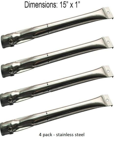 Grill Stainless Steel Burners 4 Pack 15quot; Replacement for Charbroil Grill Master