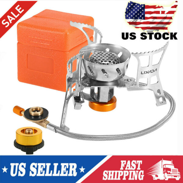 Windproof Camping Gas Stove Portable Outdoor Picnic Gas Conversion Head Adapters