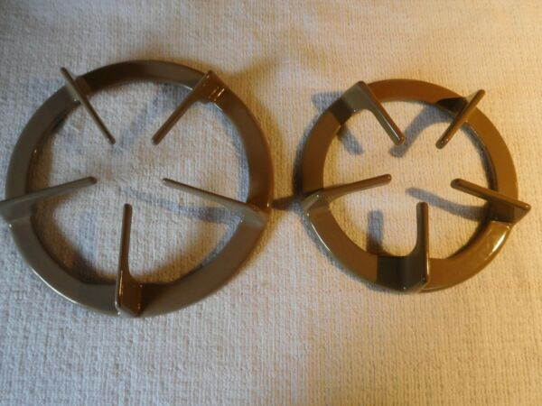 Set 2 New Whirlpool Gas Stove Grates Color Brown Part 3185507 amp; 3185509 Lrg. Sml