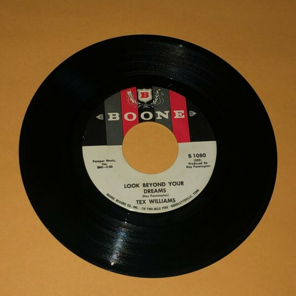 Tex Williams Tail#x27;s Been Wagging The Dog Look Beyond Your Dreams 45 rpm Record $10.00