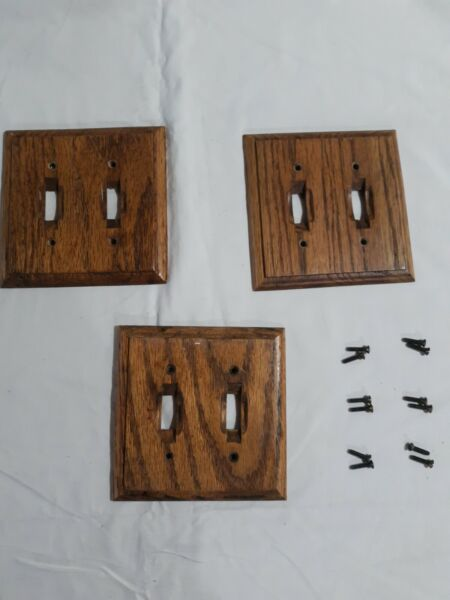 Double Wood Switch Cover $10.99
