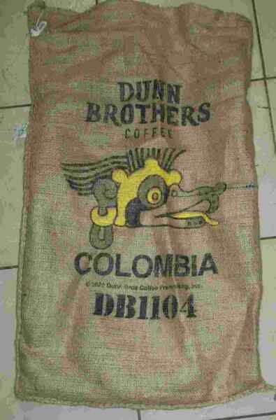 Large Columbia Coffee Bean Burlap Bag Sack Wall Art 30quot; X 17quot;