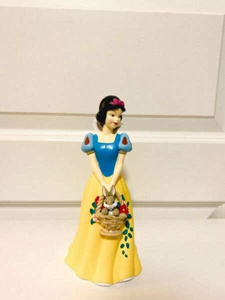 NEW Snow White Disney Princess with Bunny Basket Sculpted Vinyl Bank