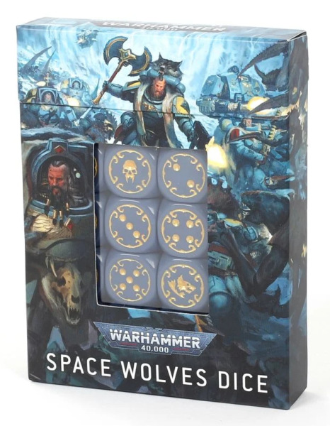 Space Wolves Chapter Dice Space Marines Warhammer 40K Pack 20x 16mm Dice