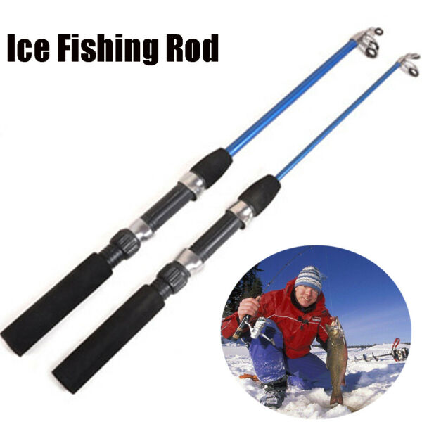 New Carbon Portable Winter Reels Retractable Pen Pole Ice Fishing Rods $4.01